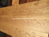suelo ancho de madera sólida del roble del tablón del trigo de oro de 150m m