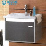 Vanità inossidabile d'acciaio della stanza da bagno poco costosa fissata al muro e Governo (BY-7608)