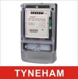 Compteur d'électricité à deux fils/trifilaire monophasé Dds-4 avec le cas transparent