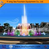 Квадратные сухой яркие огни фонтан проекта