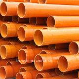 Plstic orange de la qualité des tuyaux en PVC
