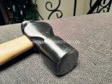 Молоток шарика/слесарный молоток с шаровым и фасонным бойком/молоток Pein шарика в ручных резцах с ручкой XL0043-2 естественного цвета деревянной