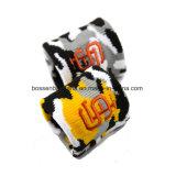 OEM de fábrica de producir bordados personalizados cinta absorbente de la muñeca de Felpa de algodón