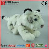 Het Realistische Pluche Gevulde Dierlijke Zachte Witte Stuk speelgoed van de Tijger ASTM