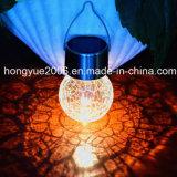 Crepitação esfera de vidro colorido travando Luz Solar