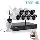 Sistema de CCTV 720p HD 8CH de Visión Nocturna cámara IP inalámbrica