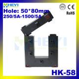 De modèle type ouvert étonnant neuf type transformateur de courant facilement de guichet de la sortie HK-58 1A/5A de la classe 0.5 de faisceau fendu
