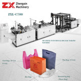 Saco de Não Tecidos fazendo a máquina para sacos de puxador (ZXL-C700)