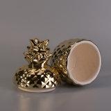 금 전기도금을 하는 파인애플 세라믹 초 콘테이너