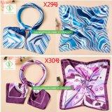 sciarpa del quadrato del regalo di modo stampata foulard di seta del raso di 60*60cm