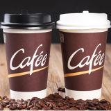 Отсутствие крышек пластмассы бумажного стаканчика кофеего утечки 6oz воды