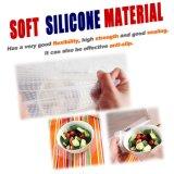Enveloppe réutilisable de conservation fraîche de plastique silicone de nourriture transparente