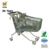 reine Plastikeinkaufen-Laufkatze des supermarkt-220L, 100L 135L 170L 175L 200L 220L