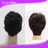 熱い販売の人間の毛髪の100%年のバージンの毛の不足分のかつら