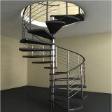 Escaleras de madera de roble pasos escalera de caracol de hierro al aire libre