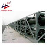 Große Kapazitäts-Langstreckenstaub-Beweis-Rohr-Gefäß-Bandförderer-System