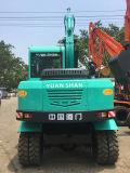 Mini Excavadora con ruedas de China con la cuchara para la venta