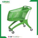 carro plástico de la carretilla de las compras del supermercado 210L