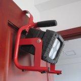 ハングのホックが付いている40W再充電可能なLEDのフラッドライト