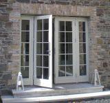 Porte française en aluminium populaire en verre Tempered de double de produit