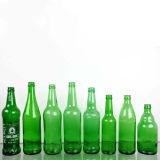 330ml/500ml/750ml color impresión seda vacía botella de cerveza de vidrio con tapón corona