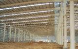 現実的なプレハブの建物の鉄骨構造フレームの格納庫