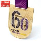 工場価格の卸売カスタム流行3D番号形メダル