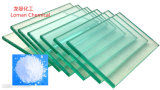 Producto químico polvo blanco el dióxido de titanio en el papel de plástico cristal