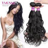 La onda Natural brasileño venta al por mayor de tejido cabello humano.