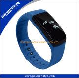 Horloge van de Armband van de Band van het silicone het Slimme met het Tarief van het Hart