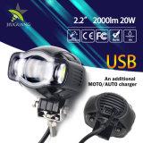 オートバイのためのUSBのコネクター20W再充電可能な防水LEDの作業軽いドライビング・ライト