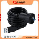 Connecteur femelle USB3.0 imperméable/Extension USB étanche/alimentation USB étanche