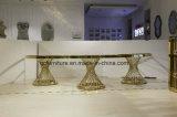 Tableau d'or de mariage de banquet de mariage de demi de lune de bâti en acier