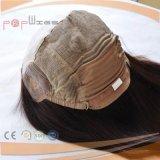 El cabello virgen brasileño de seda de Médicos de la parte superior delantera de encaje peluca (PPG-L-01555)