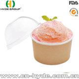 16oz одноразовых бумаги мороженое чашу с пластмассовой крышки (16 унций-2)