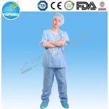 Nonwoven стационар PP или SMS медицинский Scrubs костюмы формы кальсон