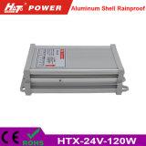 24V 5A 세륨 RoHS Htx 시리즈를 가진 방수 LED 전력 공급