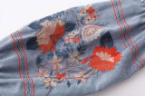 De Lange Koker van de Reeks van het borduurwerk Dame Skirt van Schouder