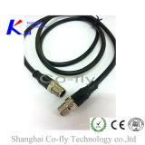 M12 Waterproof o conetor de cabo moldado reto masculino protegido do RF