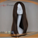 Peruca cheia das mulheres do laço do cabelo humano (PPG-l-0819)