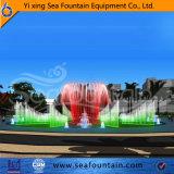 Sosta luminosa ballante dell'acqua di musica della fontana