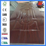 Indien-lamellenförmig angeordnetes Holz geformte Melamin-Tür-Haut