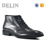 Новые поступления черные кожаные сапоги мужчин хорошего качества обуви
