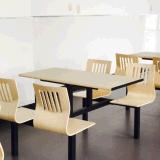 Vector y silla modernos del restaurante de la cantina de Seater de madera de metal 4