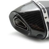 Fcmun185オートバイの排気機構は完全なカーボン六角形のマフラーを分ける