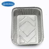 Контейнер из алюминиевой фольги пищевой категории/ проведите упакованный обед/лоток с картонной крышки багажника