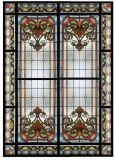 Painel cortado mão de vidro manchado do indicador do estilo de Tiffany