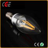 2With4W C35/E27の金または銀のフィラメントLEDの球根ライト最もよい価格LEDランプLEDの照明