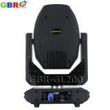 Luz principal móvil del punto de Gbr-Gl200 200W LED