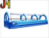 Resbalón dual hawaiano del carril y diapositiva doble inflable del resbalón del carril de la diapositiva